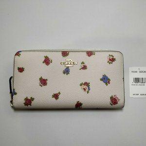 Coach Rosebud Floral Accordion Zip Wallet 76559